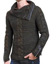Herren-Pullover & -Strickware aus Mischwolle mit Reißverschluss und normaler Größe