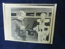 1987 Nfl Bill Parcell Ny Giants coach & Phil Simms Qb Vintage Wire Press Photo