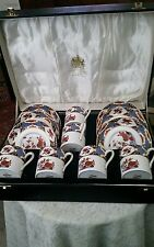 Fantastic Spode SHIMA Imari Coffee Set in Presentation Box
