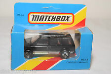 MATCHBOX MB64 MB 64 CHRYSLER CARAVAN BLACK MINT BOXED