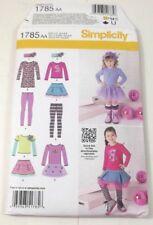Simplicity Pattern 1785 Girls Skirt Knit Dress Top Leggings Size 6 Mo To 3 Uncut