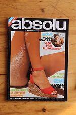 Rare ABSOLU 12 Jackie Onassis Michel Simon Francoise Quéré  / Lui Playboy