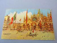 Carte Postale Vintage Venise Saint Marco Et Tour Montre Shipped