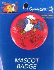 Sydney 2000 OLYMPIC GAMES MASCOT OLLY Kookaburra Hurdles PIN BADGE AUSTRALIA