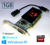 Windows 10 Optiplex 960 980 990 9010 9020 Mini-Tower 1GB Video Card + HDMI Cable