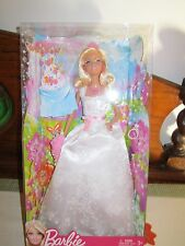 BARBIE FAIRYTALE MAGIC PRINCESS BRIDE DOLL WEDDING NEW 2012 White Dress Pink