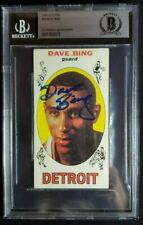 1969 Topps #55 Dave Bing Signed Rookie Card Autograph RC Auto BGS BAS Pistons
