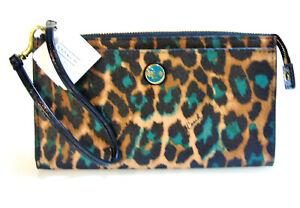 NEW COACH Ocelot Exotic Leopard Jade Animal Print WRISTLET WALLET Handbag NWT!
