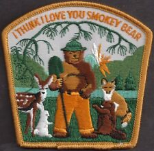US USFS Forest Service NEW 1976 I Think I Love You Smokey Bear Cloth Patch