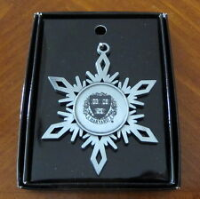 AS IS: HARVARD UNIVERSITY ENGRAVED PEWTER CHRISTMAS ORNAMENT defective