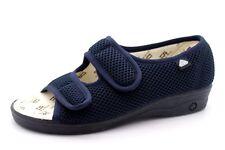 a0b1ac28e3a7 Celia Ruiz Womens UK 5 EU 38 Navy Blue Twin Riptape Open Toe Slipper Sandals
