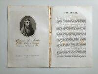1817 Ortolani Ritratto/Bio Filistione di Locri Medico IV sec.a.C. Grecia Sicilia