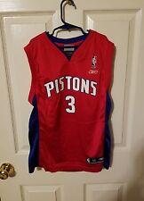 detroit piston ben wallace youth medium 10-12 jersey
