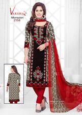 Unstitched Salwar Kameez Indian Synthetic Bollywood Designer Ethnic Crepe Suit