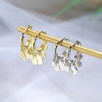 925 Sterling Silber Ohrringe Runde Quaste Damen Bolzen Ohrringe stud earring Neu