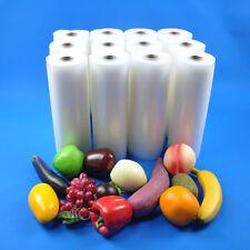 "12 Rolls Commercial 11""X50' 4mil Food Vacuum Sealer Storage Bags for Food Saver"