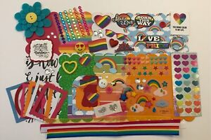 Rainbow Pride Love is Love LGBTQ Custom Mini Book Chipboard Album Kit Scrapbook