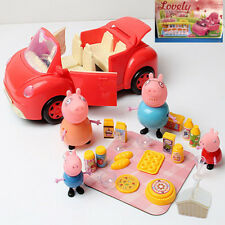 Peppa Pig Picnic Car figures Xmas Gift Kid Toy Children Characters P5OFF 5%off