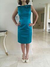 David Meister Emerald Green Shift Dress In Size 4