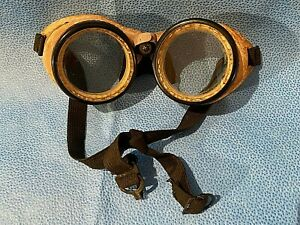 Vintage Welding Goggles Removable Glass Lenses Steampunk