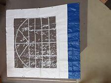 Seitenplane blau weiss Ersatzteil für Partyzelt Seitenplane 2x2 m PVC