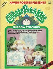 Cabbage Patch Kids SHADOWN STITCHING Xavier Roberts Sewing Pattern Book NEW OOP