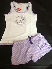 GORGEOUS LADIES SNOOPY SHORTIE COTTON PYJAMAS RRP £22 SIZES S,M,L,XL