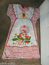1983 Vintage ~ Strawberry Shortcake ~ Vinyl Apron ~ Childs L 12-14 ~ AGC