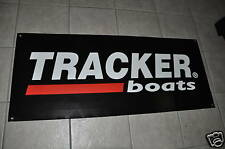 """TRACKER BOATS Banner 47"""" * 20"""" With 2 Stickers Decal BASS"""