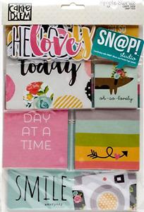 SIMPLE STORIES  [CARPE DIEM]  Snap Pack - 115 Cards & Die Cuts- Save 40%