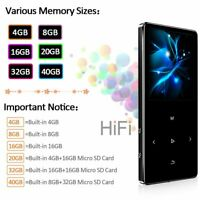 MP3 Player HIFI Bluetooth 4.2 FM Touch 1.8 Screen Sport Music Metal Walkman Tool