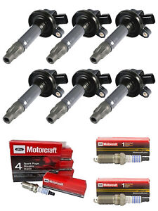 Set of 6 Ignition Coil and Spark Plug For Ford Lincoln Mazda Mercury UF553 SP411