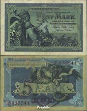 Empire Allemand Rosenbg: 22a, 6stellige Kontrollnummer usé (III) 1904 5 Mark