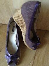 esperdrilles wedge peep toe shoe sandals size 5