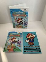 Super Paper Mario (Nintendo Wii, 2007) NO GAME Case And Manual Insert NO GAME