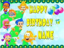 BUBBLE GUPPIES: Personalized Edible Cake Topper FREE SHIPPING in Canada