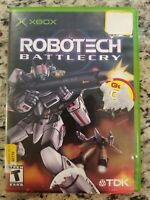 Robotech: Battlecry (Microsoft Xbox, 2002) COMPLETE TESTED FREE S/H