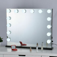 """32"""" x 26"""" Large Hollywood Style Vanity Makeup Mirror With Lights Tabletop New"""