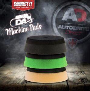 AUTOBRITE DIRECT 3 SET CORRECT IT POLISHING PADS GREEN BLACK ORANGE FOR DA3
