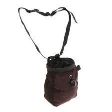 Climbing Bouldering Chalk Bag with Waist Belt & Drawstring Closure - Coffee