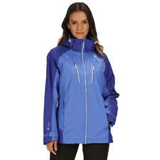 Regatta Mujer Calderdale III Impermeable Chaqueta Top Azul Deporte Exterior Full