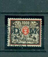 Danzig Wappen mit Aufdruck, Nr. D 40 gestempelt geprüft BPP+ Infla