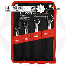 Flare Wrench / Spanner Set 4pz 8sizes (2in1) 8-17mm crv6140 ACCIAIO YATO yt-0143