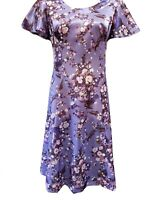 50's Cocktail Purple Floral Dress For Parties