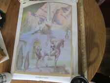 Lord of the Rings vintage 1976 Steve Hickman poster New Citadel at Sunrise