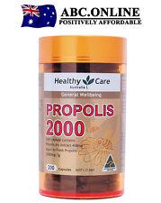 Healthy Care Propolis 2000mg 200 Amino Acids Vitamins Copper Iron Zinc Healing