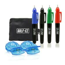 Golf Ball Marker Line Drawing Alignment Tool Kit with Marker Set and Carry Case