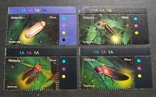 2010 Malaysia Insects Kelip-Kelip Firefly 4v Stamps set TR plate colour code MNH