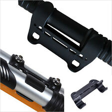 1X Black Mini Bike Bicycle Pump Holder Portable Pump Retaining Clips Bracket·UK