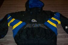 VINTAGE LOS ANGELES ST. LOUIS RAMS NFL FOOTBALL STITCHED STARTER JACKET MEDIUM